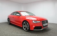 USED 2013 13 AUDI RS5 4.2 RS5 FSI QUATTRO 2DR AUTOMATIC 444 BHP FULL SERVICE HISTORY FULL SERVICE HISTORY + LEATHER SPORT SEATS + SATELLITE NAVIGATION + REVERSE CAMERA + DYNAMIC RIDE CONTROL + SPORTS PACKAGE INCLUDES SPORTS EXHAUST + PARKING SYSTEM ADVANCED + PRIVACY GLASS AND MATT ALUMINIUM STYLING PACKAGE + BLUETOOTH + CRUISE CONTROL + ELECTRIC FOLDING MIRRORS + MULTI FUNCTION WHEEL + 20 INCH ALLOY WHEELS