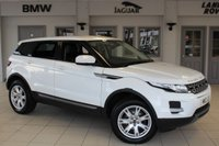 USED 2012 12 LAND ROVER RANGE ROVER EVOQUE 2.2 ED4 PURE 5d 150 BHP FULL LEATHER SEATS + FULL SERVICE HISTORY + BLUETOOTH + HALOGEN HEADLIGHTS + HEATED FRONT SEATS + DAB RADIO + 18 INCH ALLOYS + CRUISE CONTROL