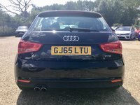 USED 2015 65 AUDI A1 1.4 SPORTBACK TFSI SPORT 5d AUTO 123 BHP NAVIGATION, BLUETOOTH, AUDI MULTIMEDIA, AUDI DRIVE SELECT, CRUISE CONTROL, VOICE COMMAND, RAIN SENSE WIPERS, AUTOMATIC LIGHTS, PADDLE SHIFT GEARS, CLIMATE CONTROL, ISOFIX, FOLDING REAR SEATS, FULL SERVICE HISTORY, SPARE KEY. 5 YEAR SERVICE PLAN, TWO SERVICE STAMPS, MOT  SPARE KEY