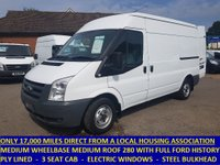 2011 FORD TRANSIT 280 MWB MEDIUM ROOF ONLY 17,000 MILES WITH FORD HISTORY £7995.00