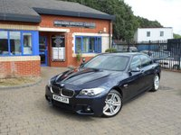 USED 2014 64 BMW 5 SERIES 2.0 525D M SPORT 4d AUTO 215 BHP 1 OWNER FBMWSH! NAV! LEATHER!