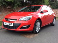 USED 2013 63 VAUXHALL ASTRA 1.4 ENERGY 5d 98 BHP 1 OWNER, FULL SERVICE HISTORY, MOT SEPT 19.  EXCELLENT CONDITION, ALLOYS, AIR CON, CLIMATE, BLUETOOTH, E/WINDOWS, R/LOCKING, FREE  WARRANTY, FINANCE AVAILABLE, HPI CLEAR, PART EXCHANGE WELCOME,
