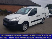 2015 CITROEN BERLINGO 3 SEAT ENTERPRISE WITH DAB & AIR CONDITIONING £6795.00