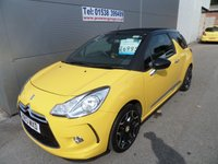 USED 2013 13 CITROEN DS3 1.6 DSTYLE PLUS 3d 120 BHP FULL FOLD BACK ROOF, 31000 MILES