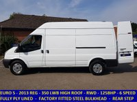 2013 FORD TRANSIT 125 350 LWB HIGH ROOF FWD WITH FULL HISTORY £7495.00