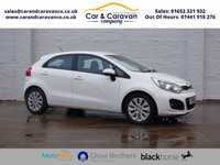 USED 2013 13 KIA RIO 1.4 2 ECODYNAMICS 5d 107 BHP Full Dealer History + Sensors 0% Deposit Finance Available