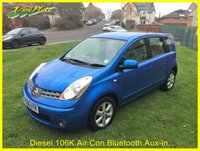 USED 2008 58 NISSAN NOTE Acenta S DCi 102 BHP +AIR CON+BLUETOOTH+MAY MOT+FULL SERVICE HISTORY+