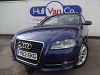 USED 2012 62 AUDI A3 1.6 TDI SPORT 2d 103 BHP £30 TAX, BIG MPG, BLUETOOTH