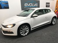 USED 2011 61 VOLKSWAGEN SCIROCCO 1.4 TSI 3d 160 BHP FVWSH! CANDY WHITE! FLAT BOTTOM STEERING WHEEL!