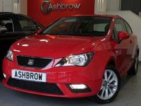 USED 2014 64 SEAT IBIZA 1.4 TOCA 3d 85 BHP SEAT PORTABLE SAT NAV, BLUETOOTH, MANUAL 5 SPEED GEARBOX, FRONT FOG LIGHTS, 16 INCH 10 SPOKE ALLOY WHEELS, GREY CLOTH INTERIOR, AIR CONDITIONING, ELECTRIC WINDOWS, ELECTRIC DOOR MIRRORS, DIS TRIP COMPUTER, ISO FIX CHILD SEAT MOUNTS, AUX INPUT, CD HIFI, LEATHER STEERING WHEEL, STEERING COLUMN REMOTE CONTROLS, NON SMOKING PACK, VANITY MIRRORS, AIRBAGS WITH PASSENGER OFF FUNCTION, REMOTE CENTRAL LOCKING, TYRE PRESSURE MONITORING SYSTEM, 1 OWNER FROM NEW, SERVICE HISTORY, VAT QUALIFYING, HPI CLEAR