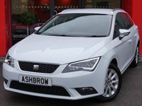 USED 2015 64 SEAT LEON ESTATE 1.6 TDI SE TECHNOLOGY 5d 105 S/S £0 ROAD TAX, 1 OWNER, FULL SERVICE HIST, SAT NAV, BLUETOOTH PHONE & MUSIC STREAMING, DAB RADIO, MANUAL 5 SPEED GEARBOX, LED FRONT & REAR LIGHTS, FRONT FOG LIGHTS, 16 INCH 10 SPOKE ALLOYS, GREY CLOTH INTERIOR, LEATHER MULTI FUNCTION STEERING WHEEL, CRUISE CONTROL, ELECTRIC WINDOWS x4, ELECTRIC HEATED MIRRORS, CD HIFI WITH 2x SD CARD READERS, MDI INPUT FOR IPOD / USB DEVICES, AIR CONDITIONING, FRONT CENTRE ARM REST, AIRBAGS WITH PASSENGER OFF FUNCTION, ISO FIX, FOLDING REAR SEATS, VAT QUALIFYING.