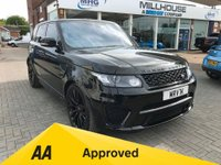 USED 2017 67 LAND ROVER RANGE ROVER SPORT SVR 5.0 V8 BLACK RED LEATHER ONE OWNER  SVR IT DON'T GET ANY BETTER!!!