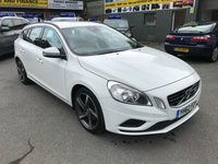 2012 VOLVO V60 1.6 D2 R-DESIGN 5 DOOR 113 BHP IN WHITE WITH 61000 MILES IN IMMACULATE CONDITION. £8399.00