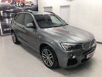 2016 BMW X3 3.0 XDRIVE30D M SPORT 5d AUTO 255 BHP £26995.00