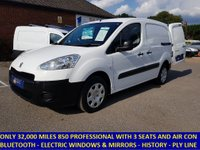2014 PEUGEOT PARTNER 850 L1 PROFESSIONAL WITH AIR-CON & 3 SEATS £6495.00
