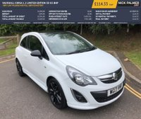USED 2013 13 VAUXHALL CORSA 1.2 LIMITED EDITION 3d 83 BHP VERY LOW MILEAGE AND FULL SERVICE HISTORY