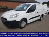 2014 PEUGEOT PARTNER 850 L1 ENTERPRISE WITH 3 SEATS-AIR CON-FULL ELECTRIC PACK £6295.00