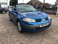 USED 2005 05 RENAULT MEGANE 1.6 DYNAMIQUE VVT COUPE CABRIOLET 2d 115 BHP ELECTRIC ROOF-MOT 29/07/19-Drives Well-1.6 Petrol
