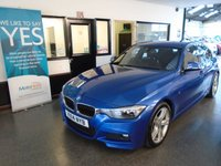 USED 2014 14 BMW 3 SERIES 2.0 325D M SPORT 4d AUTO 215 BHP This 2 owner 218 BHP 325d M Sport will be supplied with 12 months MOT and a service. Its only £120 to tax! 6 months Warranty Inclusive (extendable) 2 keys Present, Dual Zone Climate Control, - This 325D M Sport  8 Speed AUTO is exceptional. It has an extensive full BMW service history, visits at 15806/16533/24378/33883 miles. Finished in Estoril Blue metallic with black dakota leather upholstery. Other options when it was new include  BMW Navigation package. Finance is available.