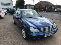 USED 2002 52 MERCEDES-BENZ C CLASS 1.8 C200 KOMPRESSOR ELEGANCE SE 4d AUTO 163 BHP 1 FORMER KEEPER-LOW MILEAGE-PART SERVICE HISTORY-AUTOMATIC-12 MONTHS MOT
