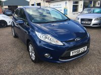 USED 2009 58 FORD FIESTA 1.2 ZETEC 5d 81 BHP EXCELLENT LOW MILEAGE / MAIN DEALER SERVICE HISTORY