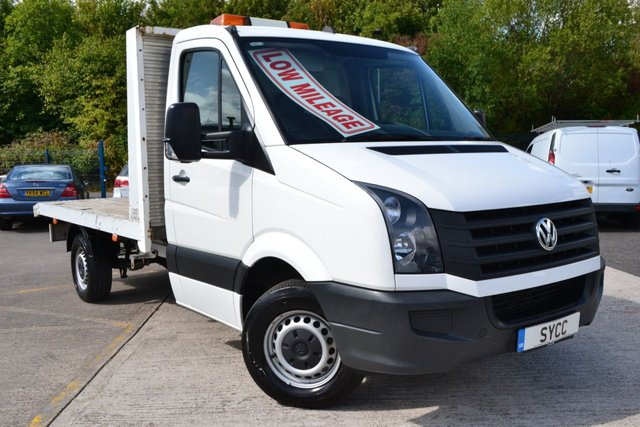 USED 2012 12 VOLKSWAGEN CRAFTER 2.0 CR35 TDI 2d 136 BHP CPD BODIES FLAT BED WITH WINCH CPD FLAT BED ~ REMOTE WINCH ~ GENUINE 61,000 MILES
