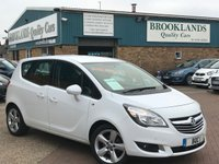 2015 VAUXHALL MERIVA 1.4 TECH LINE Alpine White Black Cloth 5 Door 99 BHP £7995.00