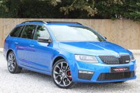 USED 2015 15 SKODA OCTAVIA 2.0 VRS TDI 5d 181 BHP RACE BLUE WITH PANORAMIC SUN ROOF & MUCH MORE.