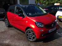 USED 2016 16 SMART FORFOUR 1.0 PRIME PREMIUM PLUS 5d 71 BHP Smart Service History + Serviced by ourselves, One Owner, MOT until July 2019, Excellent fuel economy! ZERO Road Tax! Low Insurance Group! Balance of Smart Warranty until July 2019