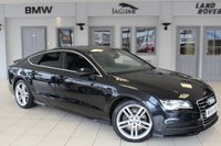 USED 2014 64 AUDI A7 3.0 TDI QUATTRO S LINE 5d AUTO 245 BHP FULL AUDI SERVICE HISTORY + FULL LEATHER SEATS + SATELLITE NAVIGATION + XENON HEADLIGHTS + BLUETOOTH + HEATED FRONT/REAR SEATS + HEADS UP DISPLAY + 19 INCH ALLOYS + PARKING SENSORS + DAB RADIO + CRUISE CONTROL + ELECTRIC TAILGATE