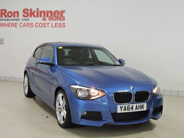 View our 2014 64 BMW 1 SERIES 2.0 116D M SPORT 3d 114 BHP