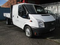 USED 2012 12 FORD TRANSIT 350 LWB Double Cab One Stop Alloy Tipper 125PS *Rear Storage Compartment* ONE KEEPER + ALLOY BODY