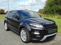 USED 2012 62 LAND ROVER RANGE ROVER EVOQUE 2.2 SD4 DYNAMIC 5d AUTO 190 BHP SAT NAV, PAN ROOF, 360 CAMERA, RED LEATHER