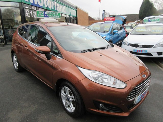 USED 2013 13 FORD FIESTA 1.2 ZETEC 3d 81 BHP **FULL SERVICE HISTORY** NO DEPOSIT DEALS 01543 379066