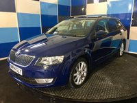 "USED 2015 64 SKODA OCTAVIA 1.6 ELEGANCE TDI CR 5d 104 BHP A stunning example of this very highly regarded family diesel estate and its 4 wheel drive (winter is comming) finished in unmarked pacific blue contrasted with 17"" golus alloy wheels,This car comes fully equiped with satelite navigation ,half leather/alcantara trim,rear parking sensors, collision mitigation system,tyre pressure monitoring system,plus all the usual elegance refinements,looks and drives superbly road fund of only £30 a year in conjunction with a combined fuel ecconomy of 60.1 mpg"