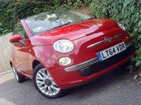 2014 FIAT 500 1.2 LOUNGE 3d 69 BHP £6499.00