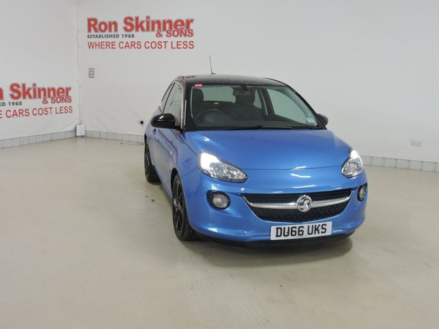 View our 2016 66 VAUXHALL ADAM (36)   1.2 SLAM 3d 69 BHP with Black Roof + 17in Alloys
