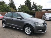 USED 2013 13 VOLKSWAGEN POLO 1.4 MATCH 5d WITH ALLOYS AND AIR CON NO DEPOSIT ECP/HP FINANCE ARRANGED, APPLY HERE NOW