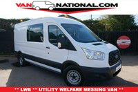 2015 FORD TRANSIT 2.2 350 125 BHP LWB WELFARE UTILITY MESSING VAN WITH TOILET 7 SEATS £16990.00