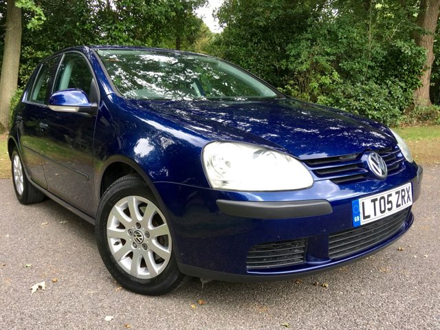 2005 05 VOLKSWAGEN GOLF 1.6 SE 5dr AUTO 114 BHP ONLY 17,600 MILES 2 LADY OWNER //YES 17,600 MILES
