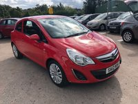 USED 2012 12 VAUXHALL CORSA 1.2 EXCITE 3d 83 BHP SERVICE HISTORY