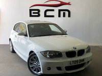 USED 2009 09 BMW 1 SERIES 2.0 118D M SPORT 3d 141 BHP