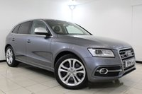 USED 2015 15 AUDI SQ5 3.0 SQ5 TDI QUATTRO 5DR AUTOMATIC 309 BHP Full Service History FULL AUDI SERVICE HISTORY + LEATHER SEATS + BLUETOOTH + PRIVACY GLASS + CRUISE CONTROL + PARKING SENSOR + MULTI FUNCTION WHEEL + CLIMATE CONTROL + DAB RADIO + 20 INCH ALLOY WHEELS