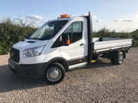 USED 2016 16 FORD TRANSIT 350 125PS LWB FACTORY DROPSIDE PICKUP