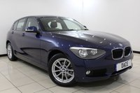 USED 2014 14 BMW 1 SERIES 2.0 118D SE 5DR 141 BHP FULL BMW SERVICE HISTORY + BLUETOOTH + MULTI FUNCTION WHEEL + AIR CONDITIONING + DAB RADIO + 16 INCH ALLOY WHEELS