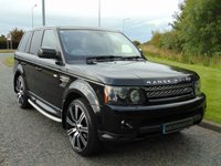 "USED 2012 12 LAND ROVER RANGE ROVER SPORT 3.0 SDV6 HSE 5d AUTO 255 BHP TV FUNCTION, SAT NAV, 22"" ALLOY WHEELS"