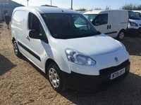 USED 2015 15 PEUGEOT PARTNER 1.6 HDI SE L1 850 1d 89 BHP 3 SEATS 850/90 HP ONE OWNER FROM NEW