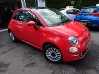 USED 2017 17 FIAT 500 1.2 LOUNGE 3d 69 BHP New Shape Model finished in Glam Coral Pink! Low Mileage! Full Fiat Service History, One Previous Owner, MOT until March 2020, Balance of Fiat Warranty until March 2020, Great on fuel economy! Only £20 Road Tax!