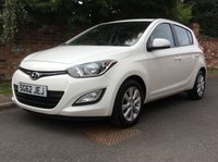 USED 2012 62 HYUNDAI I20 1.2 ACTIVE 5d 84 BHP 3 OWNERS, FULL SERVICE HISTORY, 1YR MOT,  EXCELLENT CONDITION, ALLOYS, AIR CON, BLUETOOTH, E/WINDOWS, R/LOCKING, FREE  WARRANTY, FINANCE AVAILABLE, HPI CLEAR, PART EXCHANGE WELCOME,