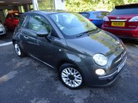 USED 2014 14 FIAT 500 0.9 TWINAIR LOUNGE 3d 105 BHP 6 Speed 105BHP finished in Metallic Grey! Low Mileage, Fiat Service History + Serviced by ourselves, MOT until September 2019, One Previous Owner, Excellent fuel economy! ZERO Road Tax!